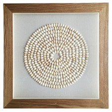 Shell Circle Framed Wall Art