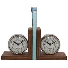 Clock Faces Bookends