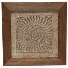 Square Organic Framed Wall Art