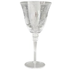 Set of 4 Clear Etched Red Wine Glasses (Set of 2)