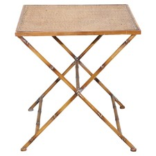 Square Rattan Side Table