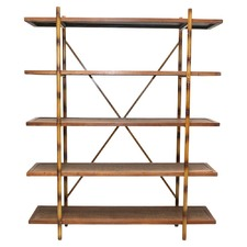 5 Level Woven Rattan Bookshelf