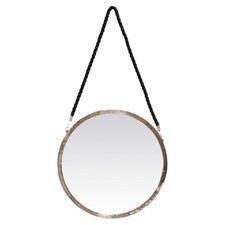 Round Jute Rope Hanging Mirror
