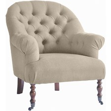 Linen & Oak Tub Chair