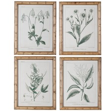 4 Piece Vintage Style Floral Printed Wall Art Set