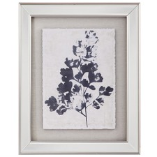 Blue Oak Leaf Framed Print