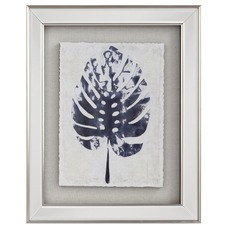 Blue Monstera Framed Print