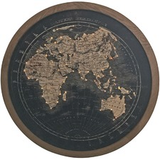 Round Light Up World Map Wall Hanging