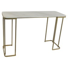 Antique Brass & Marble Modern Console