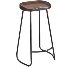 Moulded Elm Wood Barstools (Set of 2)