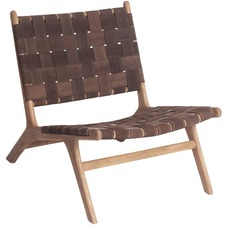 Suede Strap Chair