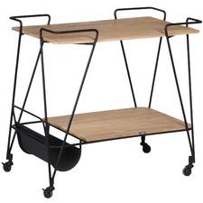 Iron & Teak Butler's Bar Trolley