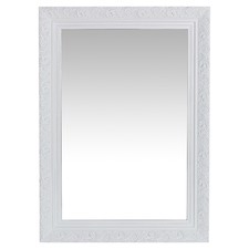 Matt White Jaslyn Ornate Mirror