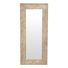 Natural Linda Cross Frame Mirror