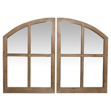 2 Piece Natural Frankie Arched Mirror Set
