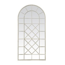 Cream Jonie Multi Pane Arch Mirror