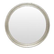 Silver Justine Round Iron Mirror