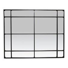Black Creselda 16 Pane Mirror