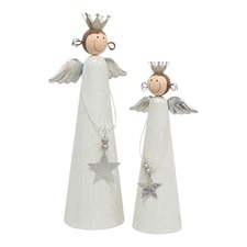 2 Piece Metal Standing Angels Set