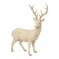Large White Standing Reindeer Ornament