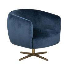 Braelynn Velvet Swivel Chair
