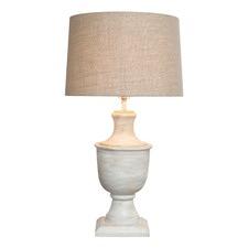 White Mango Wood Urn Lamp base