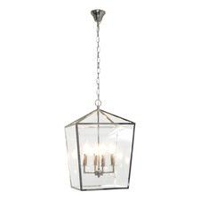 Arci Iron & Glass 4 Light Pendant