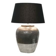 Round Rustic Stone Table Lamp Base