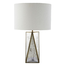 Angular Nyah Glass & Metal Table Lamp