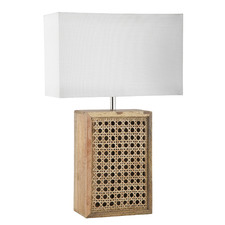 Rumaisa Rattan & Wood Table Lamp