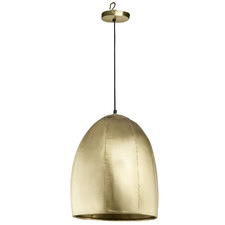 Brass Miles Forged Metal Pendant Light