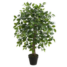 90cm Potted Faux Ficus Tree