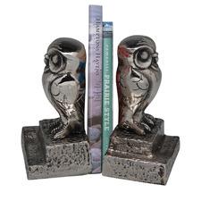 Owl Nickel Bookends (Set of 2)
