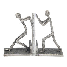 Leaning People Nickel Bookends (Set of 2)
