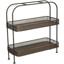 Black Weasel Double Metal Plant Stand
