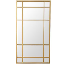 Gold Rimmed Marty Leaning Mirror