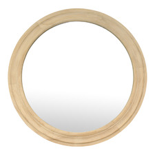 Natural Lexie Round Wall Mirror