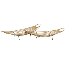 2 Piece Idina Bamboo Basket Tray Set