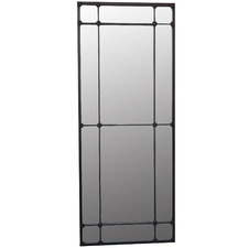 Black Valencia Rectangular Paned Wall Mirror