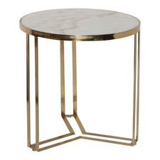 55cm Megan Metal & Marble Side Table