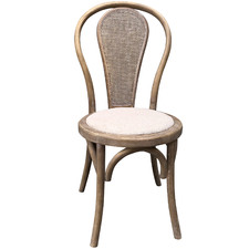 Brent Rattan Back Dining Chair