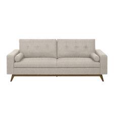 Brown Sarah Upholstered 3 Seater Sofa