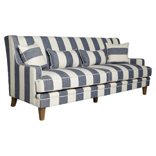 Wide Stripe 3 Seater Sofa