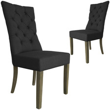 Linen High Back Dining Chair (Set of 2)