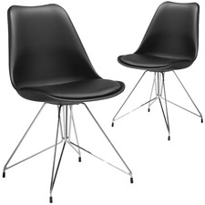 Soho Faux Leather Dining Chairs (Set of 2)