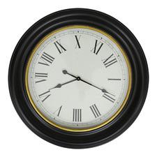 78cm Black & Gold Grooved Rim Wall Clock
