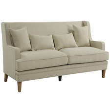 Beige Bronte 3 Seater Upholstered Sofa