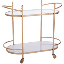 Gold Constance 2 Tier Bar Trolley