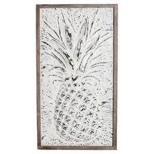 Pineapple Framed Metal Wall Décor