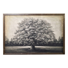Tree Framed Canvas Wall Art with LEDs